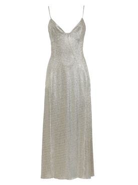Silver and gold midi dress