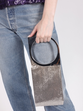 Silver-tone Op'Art handbag pochette