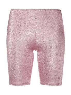 Shimmering Pink Biker Shorts