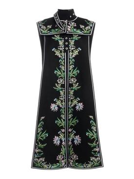 Embroidered Vest P001 BLACK