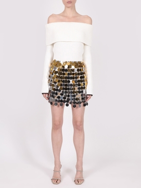 Silver & Gold Jupe Mini Skirt