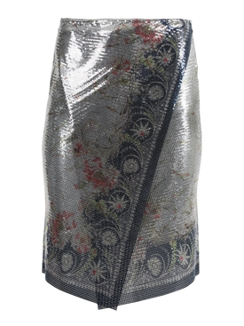Ornate Print Chainmail Skirt