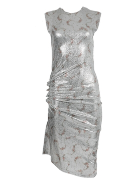 Silver flower garland dress
