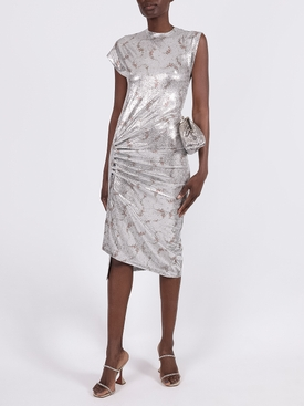 Silver flower garland dress