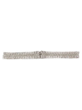 Silver Crystal Chain-Link Belt
