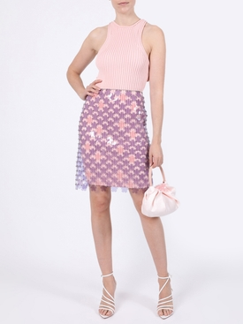 Flower paillette Skirt