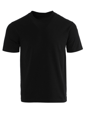 Black cotton logo t-shirt