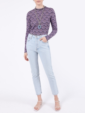 Purple metallic geometric top