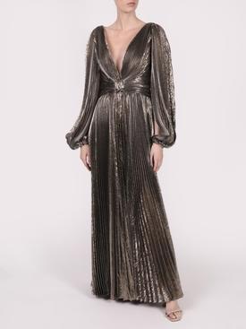 Dark gold pleated gown