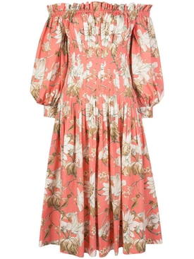 Sorbet Floral Off-The-Shoulder Dress