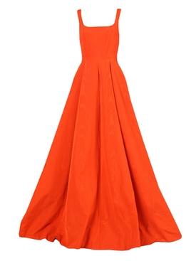 Moire Faille Sleeveless gown