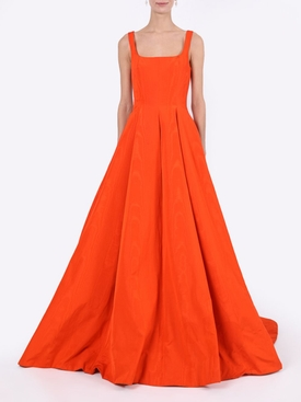 Moire Faille Sleeveless gown