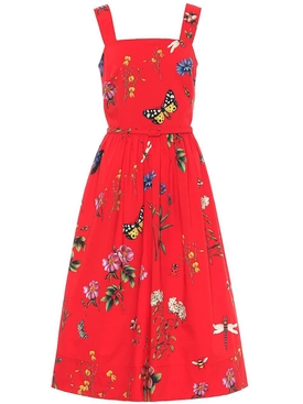 Scarlet red Printed Day dress