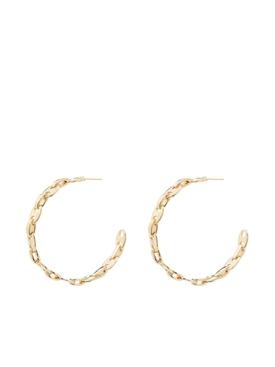 chainlink hoop earrings gold