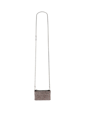 Wangloc crystal embellished nano pouch