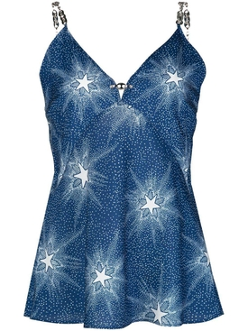Blue Starlight Slip Blouse