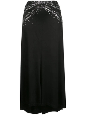 Black Shimmering Crystal Skirt