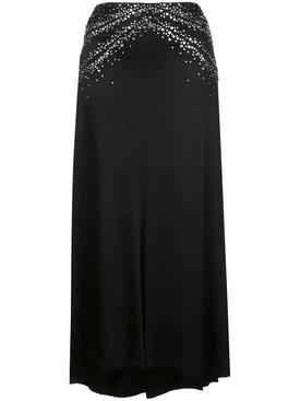 Black Shimmering Crystal Skirt