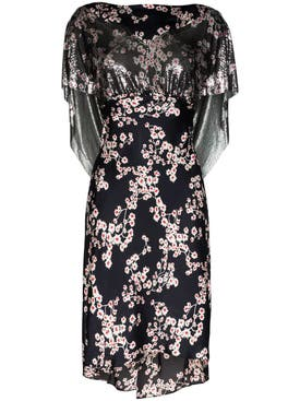 Paco Rabanne - Black Sakura Floral Print Dress - Women