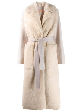Yves Salomon - Fur Panel Robe Coat - Women