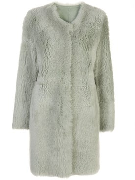 Yves Salomon - Collarless Fur Coat - Long