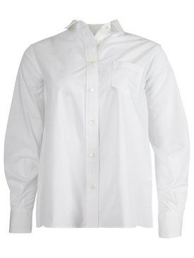 Cotton Poplin Shirt, white