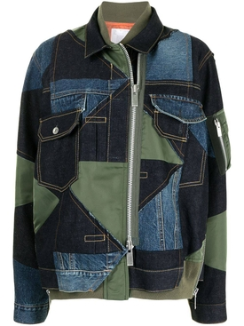 X Hank Willis Thomas Mixed-media denim jacket