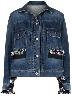 Frayed Panel Denim Jacket