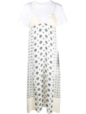 Komon Print Dress, off white