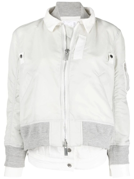 Denim Twill Blouson Jacket, OFF-WHITE