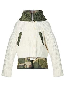 X KAWS Camouflage Print Wool Knit Blouson