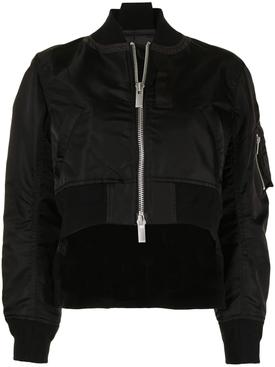 Classic Zipped Bomber Jacket Black