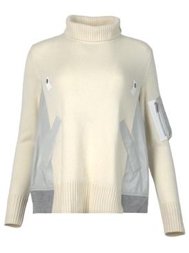 Nylon Twill Mix Pullover