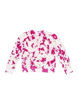 Hot Tie Dye Sweatshirt, FUCHSIA