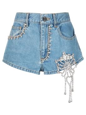Crystal Crochet Cutout Hot Short