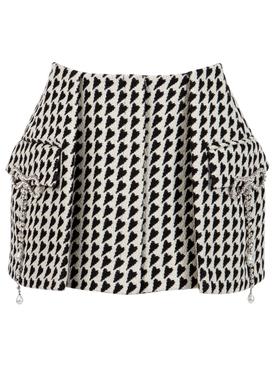Hourglass Mini Skirt Black and Cream