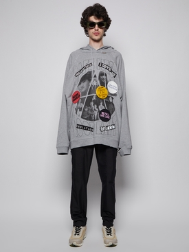Welcome Home Collage Hoodie Grey