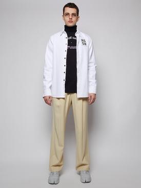 Slim fit denim shirt, WHITE