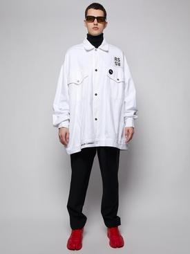 Oversized denim jacket white WHITE