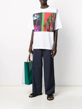 Boxy Multi-print Graphic T-Shirt