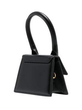 LE CHIQUITO SMOOTH LEATHER HANDBAG BLACK