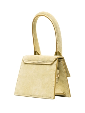 LE CHIQUITO SUEDE LEATHER HANDBAG LIGHT GREEN