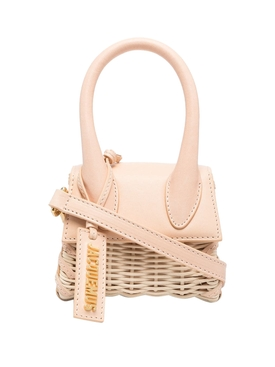 LE CHIQUITO WICKER HANDBAG LIGHT BEIGE