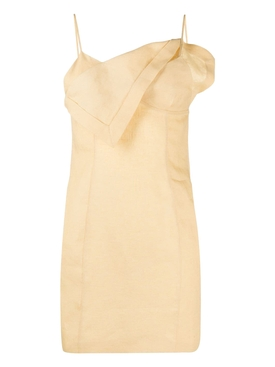 LA ROBE DRAP MINI DRESS, YELLOW SAND