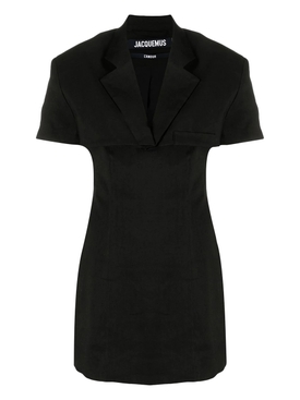 LA ROBE GARDIAN MINI DRESS, BLACK