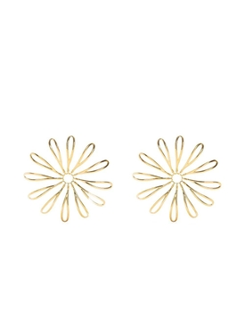 Les Fleurs Flower Motif Earrings