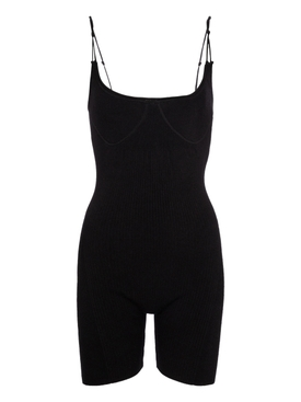 LE BODY SHORT PLAYSUIT, BLACK