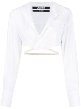 LA CHEMISE LAURIER TOP, WHITE
