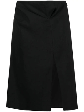 LA JUPE DRAP SKIRT, BLACK