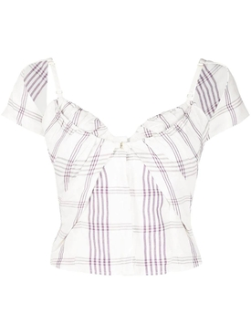 LE HAUT TOVALLO TOP, WHITE AND PURPLE